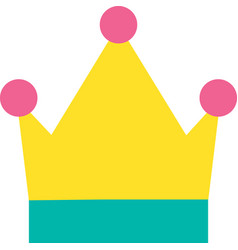 Drawn monarch king and queen symbol crown icon vector