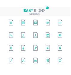 Easy icons 24e files vector