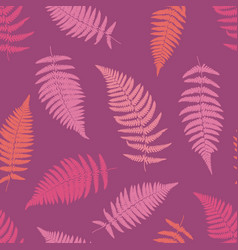 Fern tropical seamless pattern vector