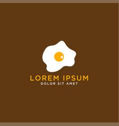 Fried egg logo design template vector