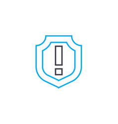 general insurance thin line stroke icon vector image