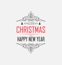 greeting merry christmas decorative card vector image