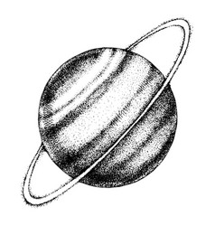hand drawn uranus planet vector image