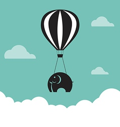 image elephant with balloons vector image