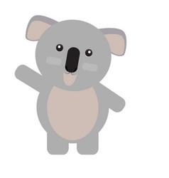 isolated cute koala vector image