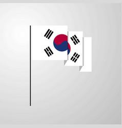 Korea south waving flag creative background vector