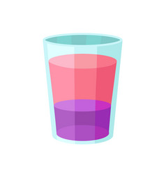 layered pink and purple alcoholic cocktail cartoon vector image