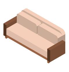 leather sofa icon isometric style vector image