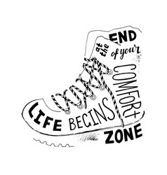 life begins at end your comfort zone vector image