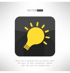 Light bulb icon in modern flat design Creativity vector image