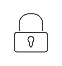 lock line icon on a white background vector image