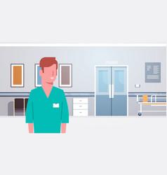man medical doctor clinics hospital interior vector image