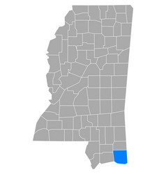 Map jackson in mississippi vector
