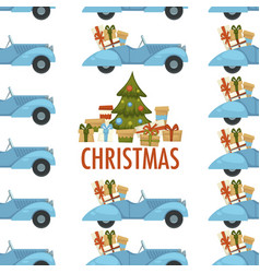 Merry christmas winter holiday celebration and vector