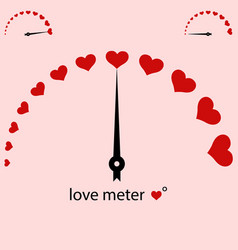 meter power love heart valentine vector image