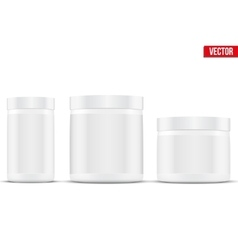 Mockup sport nutrition container whey protein and vector