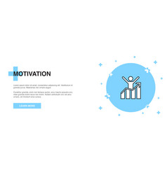 motivation icon banner outline template concept vector image
