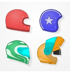 Motorcycle helmets vector