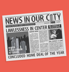 newspaper page concept vector image