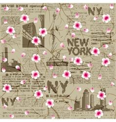 NY cherry blossom vector