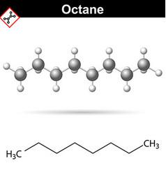 Octane chemical formula vector