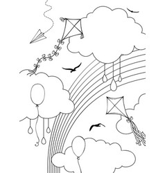 outline sky vector image