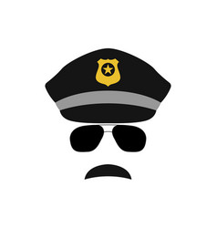 Police officer avatar trendy policeman icon vector
