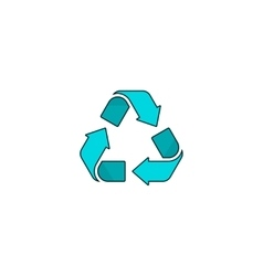 Recycling symbol logo isolated on white vector image