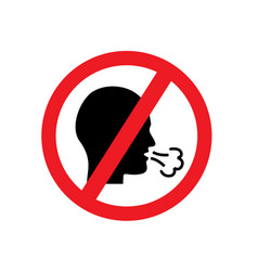 red forbidden forbids coughing vector image