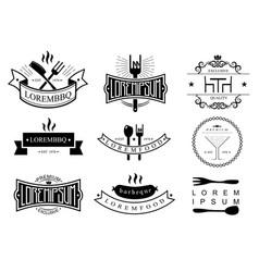 restaurant logo templates vector image