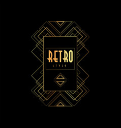 Retro style gold and black vector
