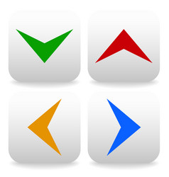 rounded square arrows icons up down left and right vector image