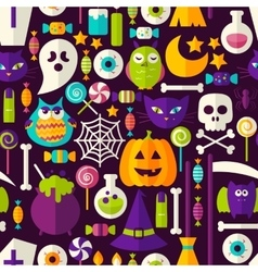 Scary Halloween Seamless Background vector image