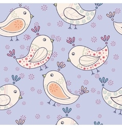 Seamless vintage pattern with birds vector image