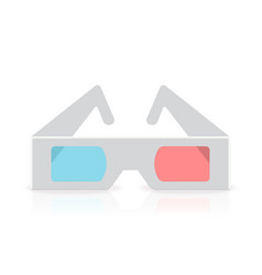 Stereoscopic anaglyph disposable paper 3d glasses vector