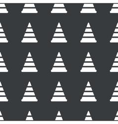 Straight black traffic cone pattern vector