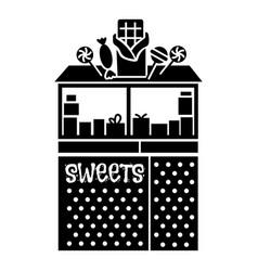 Street candy kiosk icon simple style vector