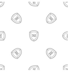 tax protection pattern seamless vector image