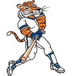 Tiger sports logo mascot baseball vector