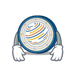 Tired factom coin mascot cartoon vector