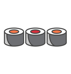 traditional sushi roll icon vector image