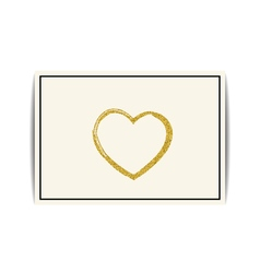 Valentine template with gold glitter heart and vector
