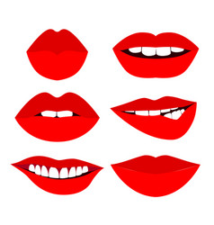 various red sexy woman lips vector image