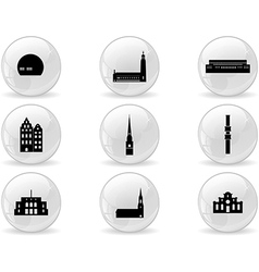 Web buttons landmark icons - Stockholm vector