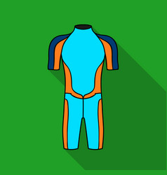 wetsuit icon in flate style isolated on white vector image vector image
