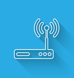 white router and wi-fi signal symbol icon vector image