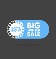 winter sale and discount snowflake promotional vector image
