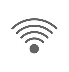 Wireless and wifi line icon vector
