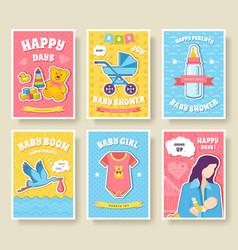 World breastfeeding week cards set kids elements vector