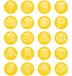 Yellow CMS icons vector image